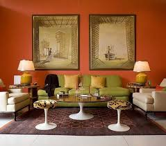 Burnt Orange And Brown Living Room Concept Awesome Decorating Design