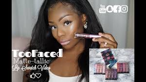 <b>Too Faced</b> Melted Matte-tallics Liquid Lipstick Swatches - YouTube