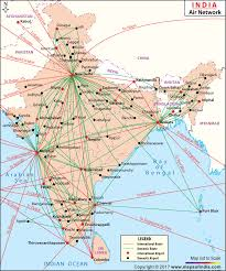 India Air Routes Network Map Air Routes Network Map