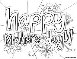 Happy Mother S Day Coloring Image