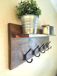 wood wall shelf with hooks gorgeous wooden shelf with hooks wall mount wood shelf w 5 hooks wood shelf with baskets wood wall shelf hooks