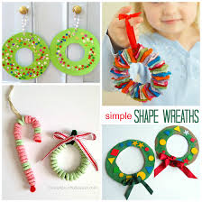 Nice Kids Crafts For Christmas Gifts Part - 4: Christmas-wreath-craft-