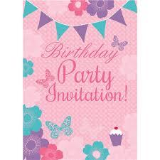 B Day Invitation Cards Summer Garden Birthday Invitation Cards Medium