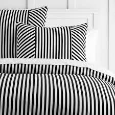 the emily meritt cabana stripe duvet sham twin black white
