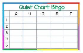 Quiet Chart Bingo Poster 11x17 Landscape