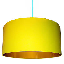 Sunshine Yellow Lampshade With Gold Lining