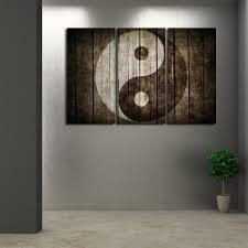 on wooden yin yang wall art with wooden yin yang multi panel canvas wall art elephantstock