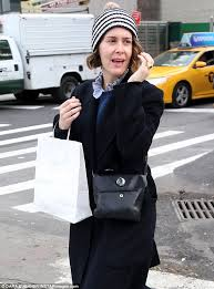 all natural sarah paulson stepped out in nyc without makeup or styled hair for a