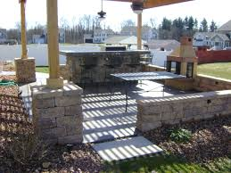 Outdoor Living Patio with Raised Fire Pit Nucrete Of Raised Concrete