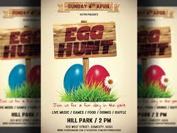 Easter Egg Hunt Flyer By Hotpin Dribbble Dribbble