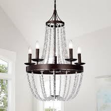 ruesen antique bronze crystal beads chandelier