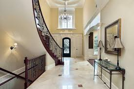 high end decorated foyer with elegant lighting