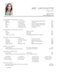 Performance Resume Awesome Amy Laviolette Performance Resume