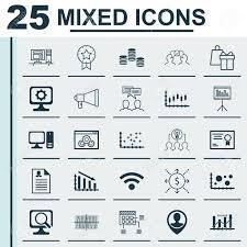 desktop diagram icons wiring diagram list set of 25 universal icons on desktop computer shopping cosinus desktop diagram icons