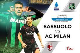 Link Live Streaming Liga Italia: Sassuolo vs AC Milan