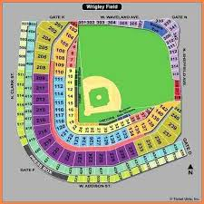 Wrigley Field Seating Chart With Rows And Seat Numbers