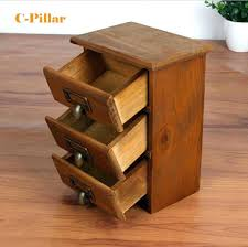 small wood storage drawers small wood cabinet new arrival three layer retro storage drawers home organizer