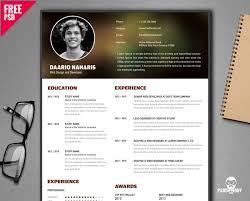 Free Creative Resume Templates Impressive Free Creative Resume Template PSD PsdDaddy