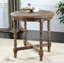 round wood accent table uttermost wooden end table target threshold wood accent table with chrome