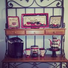 Coffee Kitchen Theme Decor My Coffee Themed Kitchen Love The Bakers Rack Thank You Hobby
