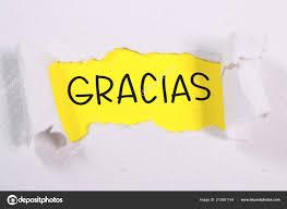 Memo En Espanol Español Gracias Gracias Palabras Carta Papel Memo Concepto