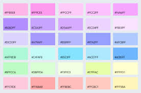 Cmyk Pastel Color Chart How To Use Pastel Colors In Your Designs 15 Delicious