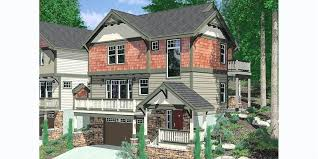 sloping house designs craftsman house plan for sloping lots has front and rear decks sloping lot
