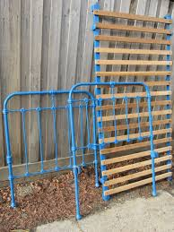 old iron beds.  Iron Old Iron Bed Frame  Drill Holes Through Arms To Attach Wooden Slats For Beds I