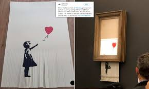 Owner of Girl with Balloon copy shredded work believing it would double