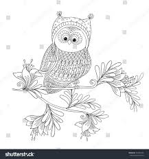 Small Picture Cute Owl Outline Coloring Coloring Pages