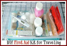 how to make a diy first aid kit for traveling