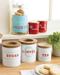 Kitchen Storage Canisters Stenciled Kitchen Storage Containers