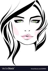 beautiful makeup icon vector image