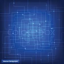 Virtual Circuit Technology Background Stock Vector Colourbox