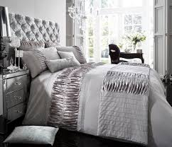 White And Silver Bedding Verina Duvet Cover With Pillowcase Quilt ... & White And Silver Bedding Verina Duvet Cover With Pillowcase Quilt Adamdwight.com
