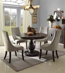 dandelion 5 pc dining table set by home elegance in rustic brown rustic farmhouse table rustic round