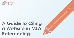 Mla Citing A Website A Guide To Citing A Website In Mla Referencing