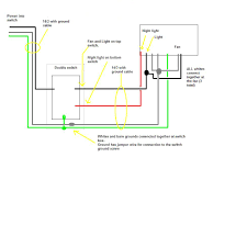 Exhaust Fan With Light Wiring Diagram Broan Bathroom Fan Wiring Diagram Wiring Diagram All