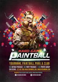 Free Flyer Free Paintball Psd Flyer Templates Free Download