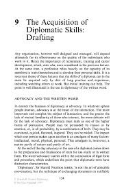 the acquisition of diplomatic skills drafting springer positive diplomacy positive diplomacy