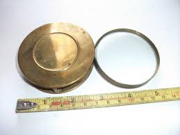 old vintage brass cased folding magnifying glass good condition