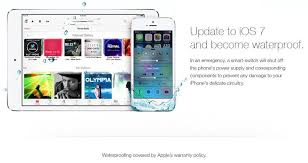 apple iphone 7 ad. owners fooled by fake apple ad that claims ios 7 will make iphones waterproof   cult of mac iphone