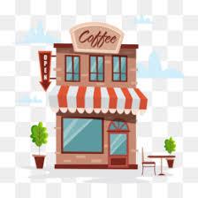 coffee shop building clipart. Modren Clipart PNG Inside Coffee Shop Building Clipart