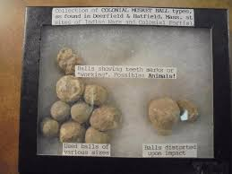 Collection Of Colonial Musket Balls As Found In