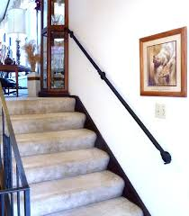 Another simple Wall Mounted Railing. It is about 7 feet long and mounted to  the wall studs