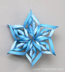 paper snowflakes 3d 3d paper snowflake craft kids crafts firstpalette com