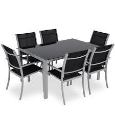 Ensemble chaise et table de jardin | Domino panda