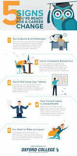i need a career change infographic 5 signs youre ready for a career change