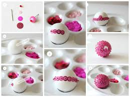 How To Decorate Styrofoam Balls Styrofoam ball decorated with pink sequins Stuff to Try 3
