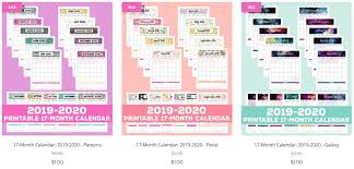 Small Printable 2020 Calendar 2019 2020 Free Printable Monthly Calendar Happiness Is